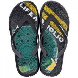 Rider Jongens teenslippers Black/Grey/Green 82563 23899