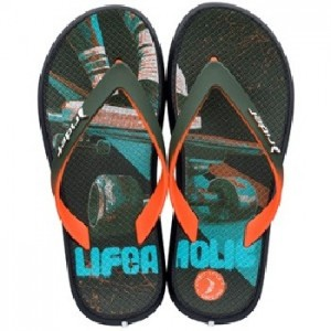Rider Jongens teenslippers Black/Orange/Green 82563 24711