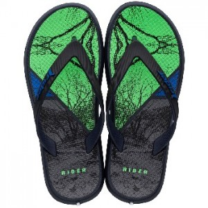 Rider Jongens teenslippers Blue/black/green 82734 23528